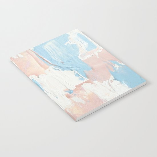 Pink and Blue Abstract Notebook