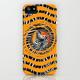 Zebra Tribal Sunset iPhone Case