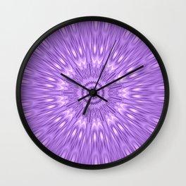 Lavender Purple Mandala Explosion Wall Clock