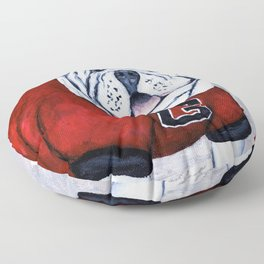 Georgia Bulldog Uga X College Mascot Floor Pillow
