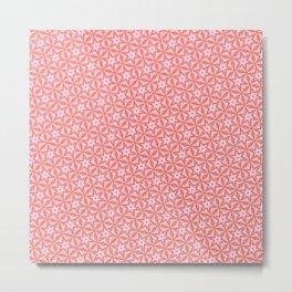 Stars in pink Metal Print