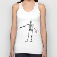 skeleton Tank Tops featuring Skeleton by jane.y