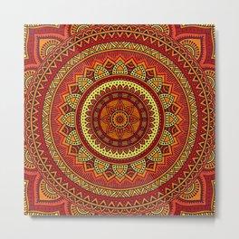 Hippie mandala 85 Metal Print