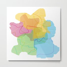 color shadows Metal Print