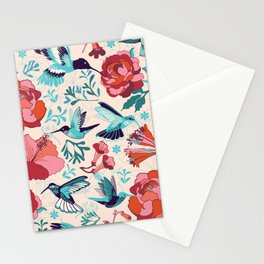 Hummingbird summerdance Stationery Cards