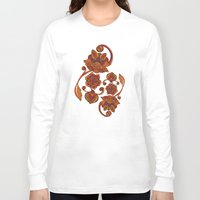 boho Long Sleeve T-shirts featuring Boho Flowers by Valentina Harper