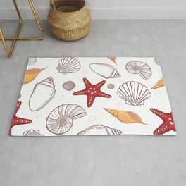 Seashell pattern background Rug