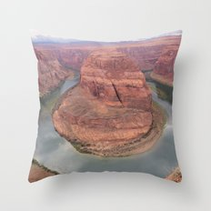 Horse Shoe Bend Throw Pillow