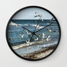 FLYING SEAGULLS Wall Clock