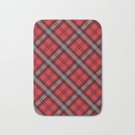 Scottish Plaid (Tartan) - Red Bath Mat