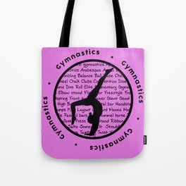 Pink Gymnastic Circle Symbol Tote Bag