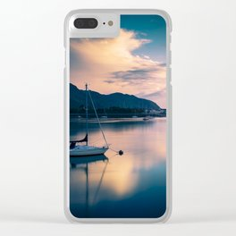 A boat on the river Clear iPhone Case