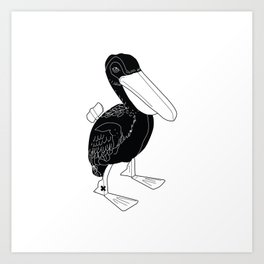 COMMUNIST DUCK Art Print