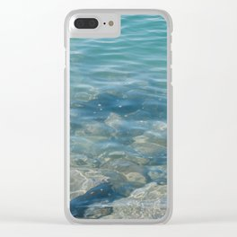 Wade in the water Clear iPhone Case