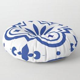 Blue and White 2 Classic Design Talavera Floor Pillow