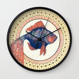 Turkish Gold Fish Wall Clock