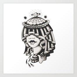GALAXY WIFE Art Print