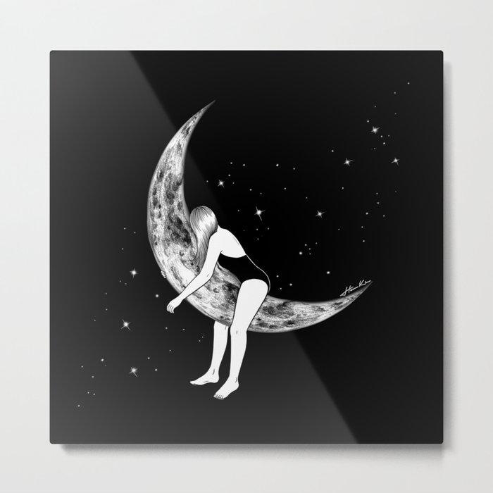 Moon Lover Metal Print