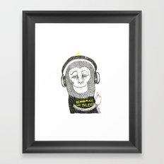No Ear - Wise Monkey Framed Art Print