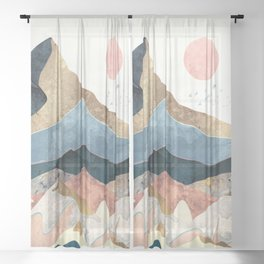 Golden Peaks Sheer Curtain