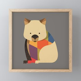 Wombat Framed Mini Art Print