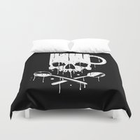 pirates Duvet Covers featuring Coffee Pirates by Roberlan Borges