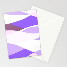 Blue and Lavender Waves Stationery Cards