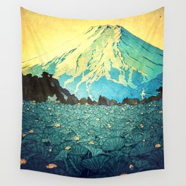 Waddling through Kennijo Lake Wall Tapestry