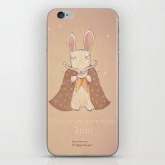 Christmas creatures- Bunny The Magician iPhone & iPod Skin