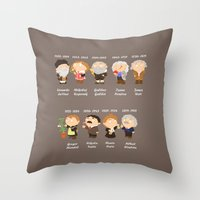 science Throw Pillows featuring science by Alapapaju