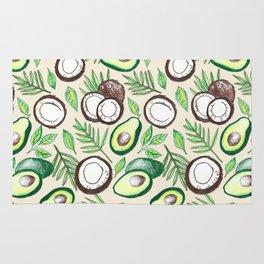 Coconuts & Avocados Rug