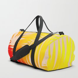 Palm Tree Fronds Multi Colour Vivid Hawaii Tropical Décor Duffle Bag