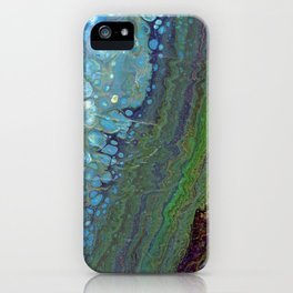 Age And Beauty - Original, abstract, fluid, marbled painting iPhone Case