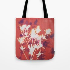 Photogram - Seaholly in Red Tote Bag