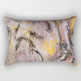 Aztecs, acrylic on canvas Rectangular Pillow
