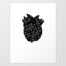 Uh-oh, Zach's got the dog biscuit again. -.- Art Print