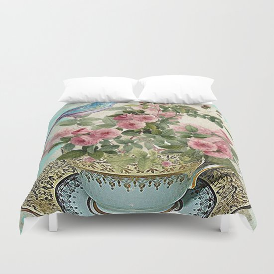 Tea Flower #1 Duvet Cover