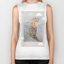 Hoopoe Bird in the sky Biker Tank
