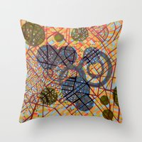 milan Throw Pillows featuring bombing Milan by Federico Cortese
