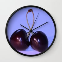 twins Wall Clocks featuring Twins by LoRo  Art & Pictures