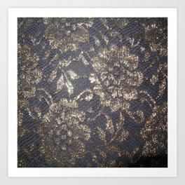 Black Lace Art Print