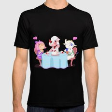 Animal Crossing :: Cake time MEDIUM Black Mens Fitted Tee
