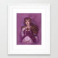 zelda Framed Art Prints featuring Zelda by Karen Hallion Illustrations