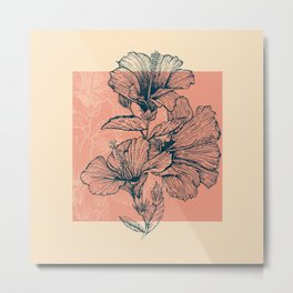 Hibiscus Colors Metal Print