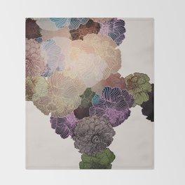 Florals // Pattern III Throw Blanket