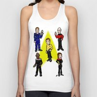 picard Tank Tops featuring Want To Boldy Go...?  Just choose your captain! Star Trek's Sisko, Janeway, Archer, Kirk and Picard by beetoons