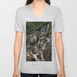 Rocky Waterfall Unisex V-Neck