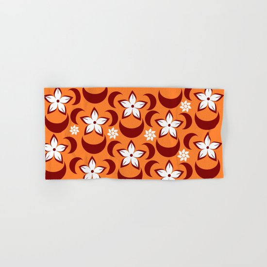 Orange floral fantasy Hand & Bath Towel