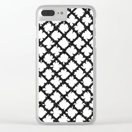 Thorns - Black/White Clear iPhone Case