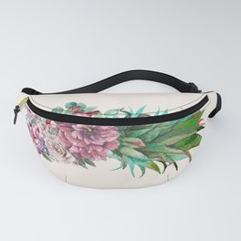 Floral Pineapple Fanny Pack
